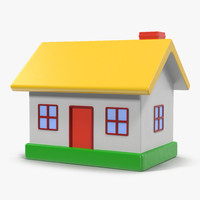 3d toy house model