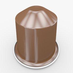 3d model nespresso capsule cosi