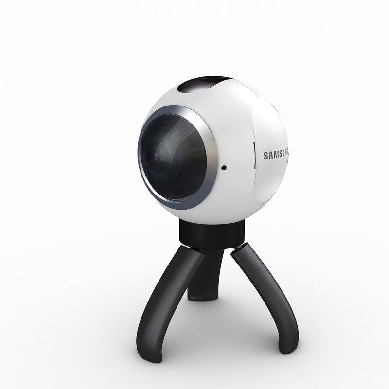3d samsung gear 360 camera model