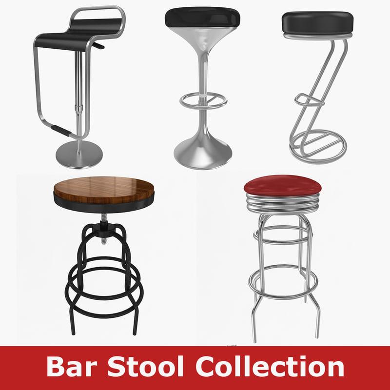 bar stool 3d x