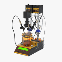 lambda minifor fermenter-bioreactor 3d model
