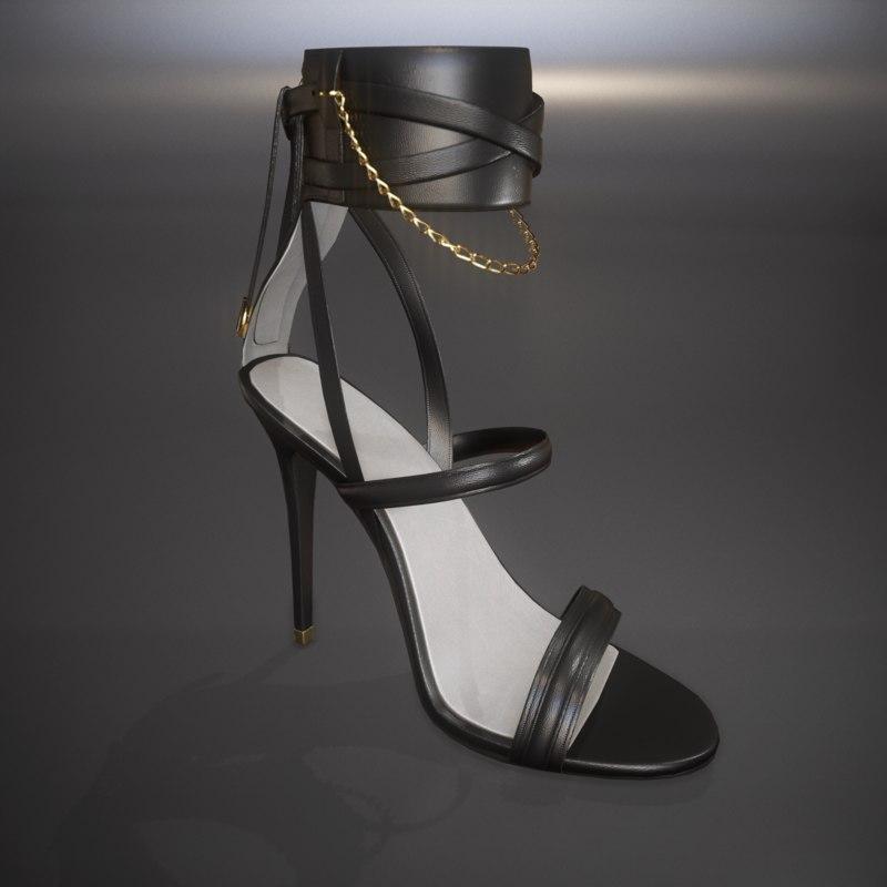 3d model woman shoe pbr