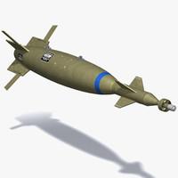 gbu-10 bomb 3d max