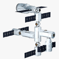 modular space station 3d max