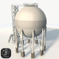 Gas storage low poly