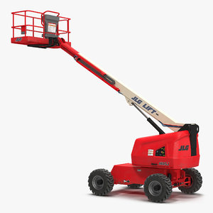 telescopic boom lift jlg 3d model