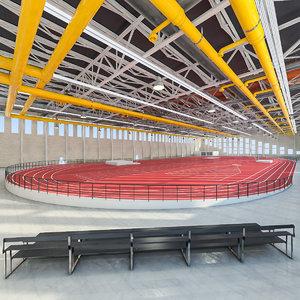 athletics gym interior 3d model