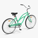 European city bicycles 3D models