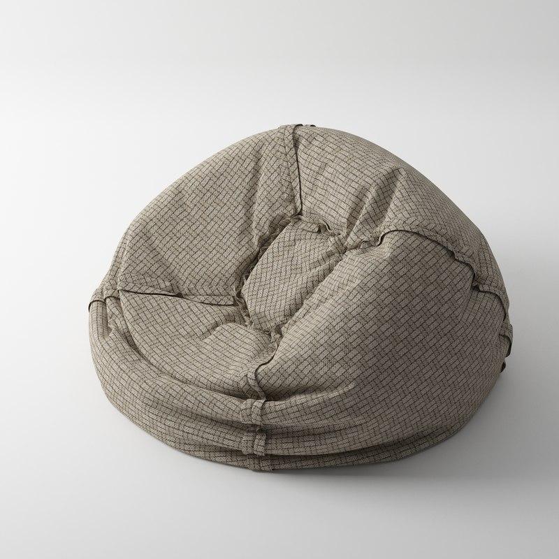 3d pouf beanbag model