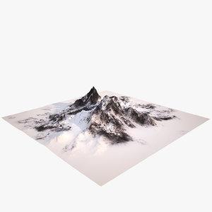 mount snow 3d model