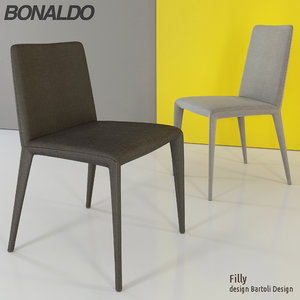 3d model of dining chairs bonaldo filly