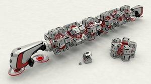 3d spaceship train