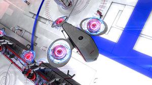 3d spaceship drone model
