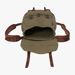 3d model open travel backpack