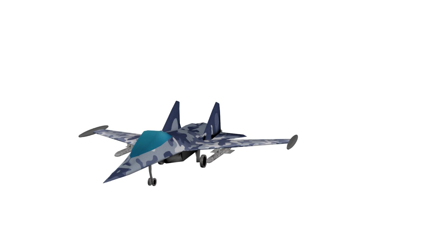 3d model bomber su-35