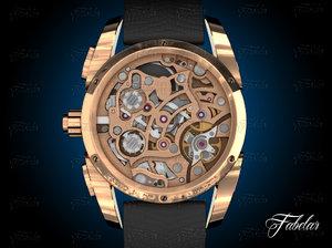 watch mechanism 25 3d model