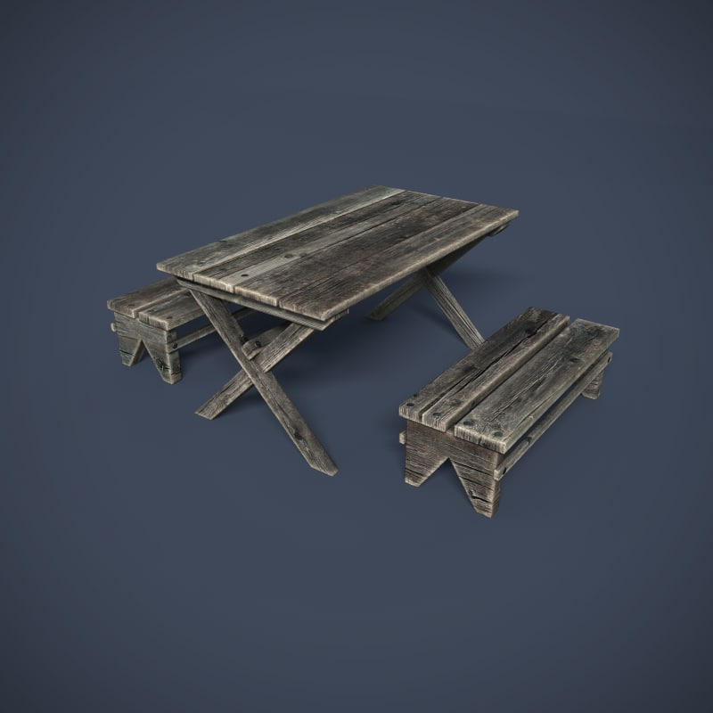 3d model wooden structures