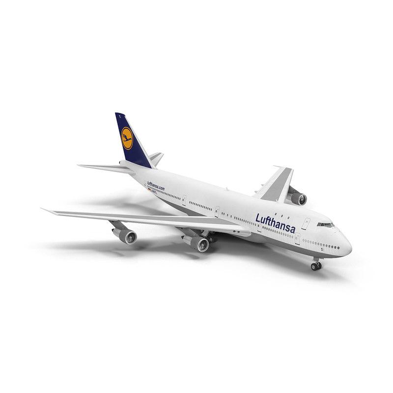 boeing 747-100b lufthansa 3d max