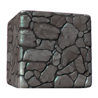 Stylized Carved Stone Wall