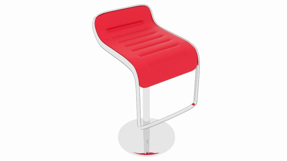 bar lounge stool 3ds