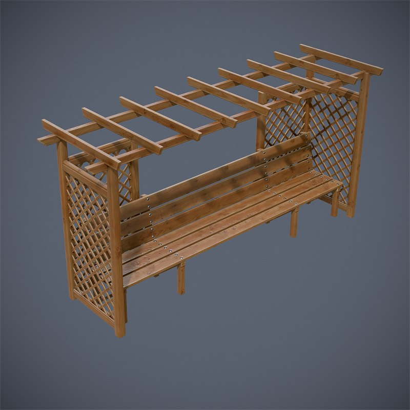 wooden structures 3d max