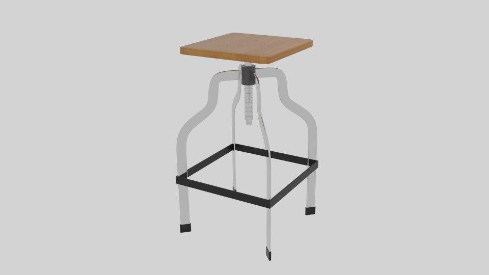 screwed stool 3d model