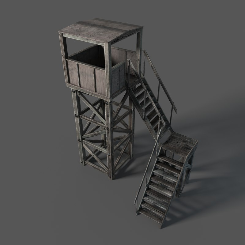 tower ladder 3d max