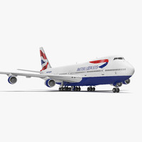 boeing 747 100b british airways 3d model