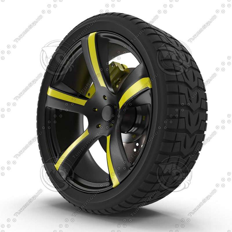 3d model wheels tires