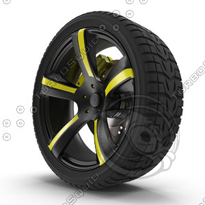 3d model wheels tires
