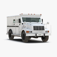 bank armored car simple 3d model