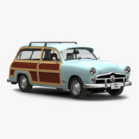generic retro car simple 3d model