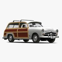 3d generic retro car simple model