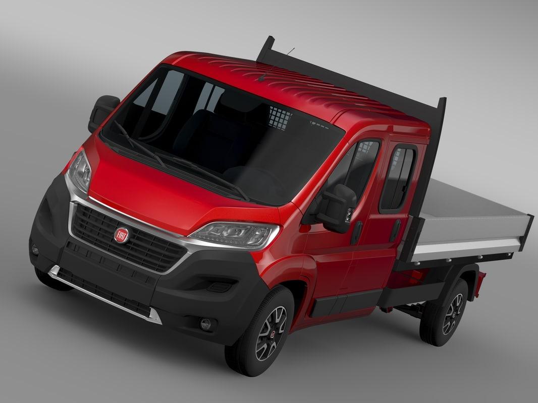 3d fiat ducato crew cab model