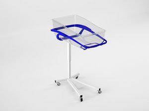 hospital bassinet 3d model
