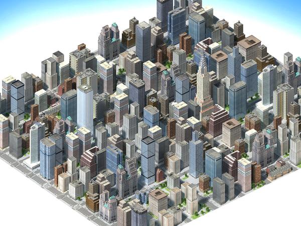 3d city mega real time