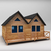 3d large wooden house