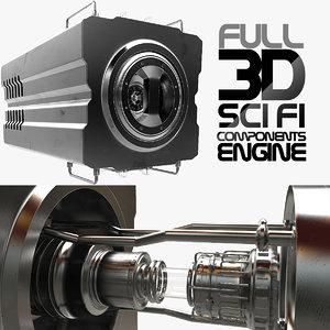 3d futuristic sci fi
