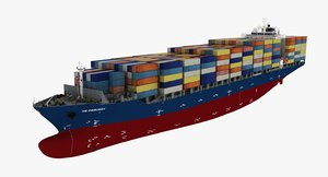 ship container vessel 3d model