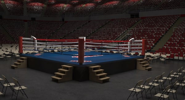3d model boxing arena