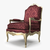 louis xv armchair 3d model