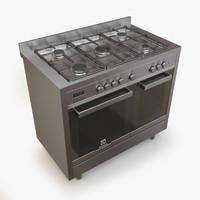gas range electrolux ekk066aaox 3d model