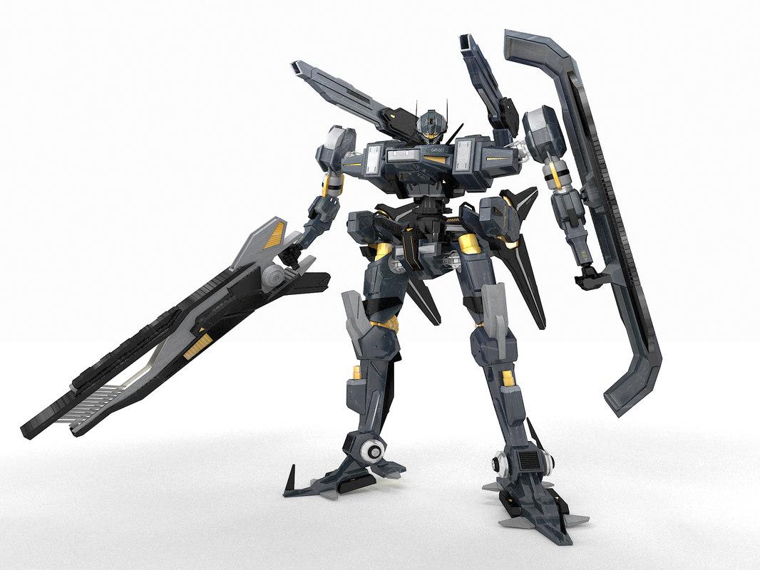 robot c-hy-001 3ds