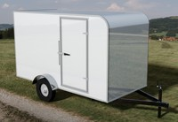 Enclosed Cargo Trailer 6ft x 12ft Rounded Roof - Solared Survivor