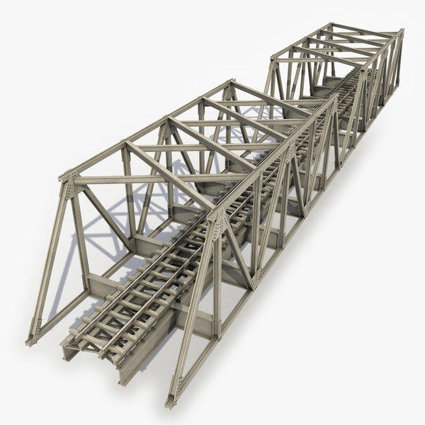 modeled railway bridge 3d model