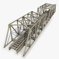 modeled railway bridge 3d model