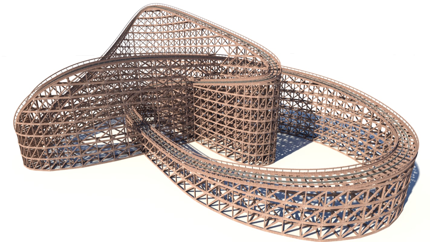 wooden style roller coaster max