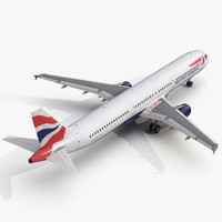 3d model airbus a321 british airways