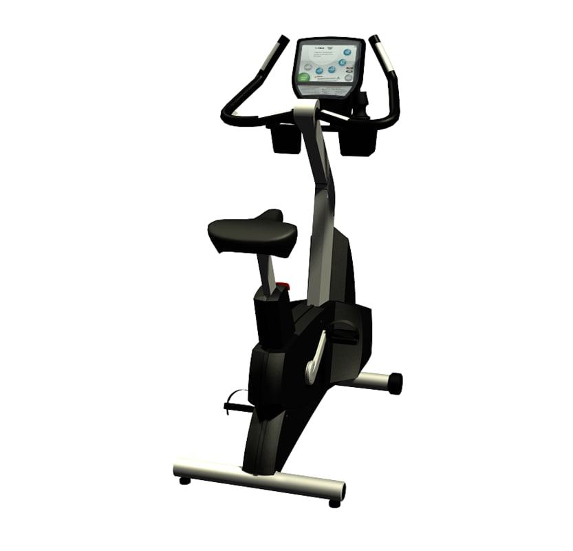 upright bike 3d max