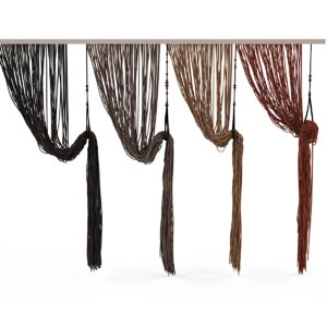 3d obj curtains rope